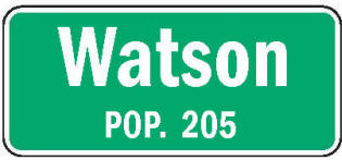 Watson Minnesota population sign