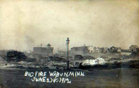 Scene after fire, Waubun Minnesota, June 1912