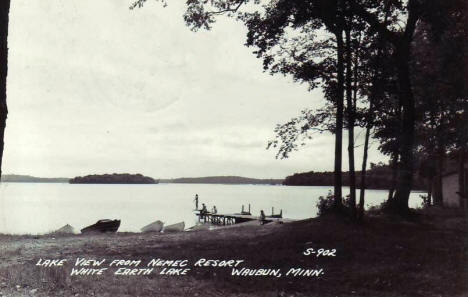 Lake View from Nemec Resort, Waubun Minnesota, 1952