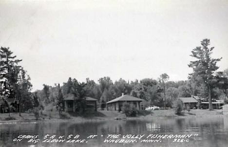 The Jolly Fisherman Resort on Big Elbow Lake, Waubun Minnesota, 1957