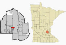 Location of Wayzata Minnesota