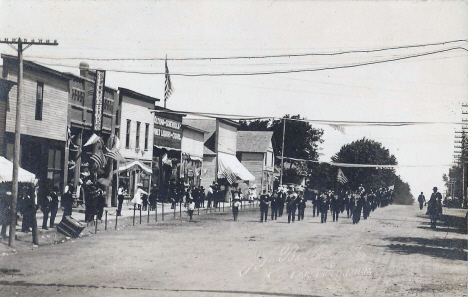 Fourth of July Parade, Welcome Minnesota, 1910's