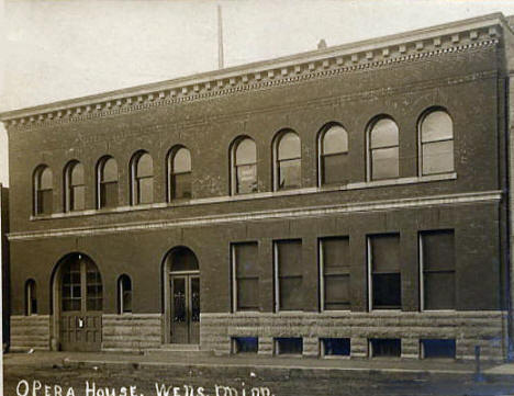 Opera House, Wells Minnesota, 1900's