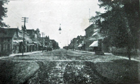 Business Street, Wells Minnesota, 1907