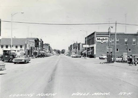 Looking north, Wells Minnesota, 1964