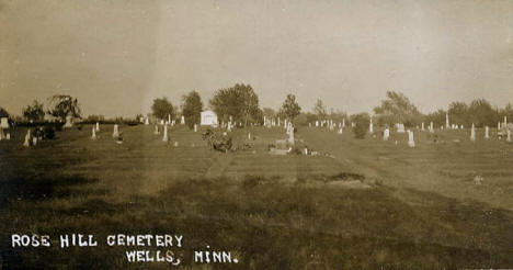 Rose Hill Cemetery, Wells Minnesota, 1910's
