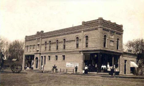 Anderson & Bush Company store on Main Street, Wells Minnesota, 1910's