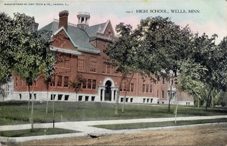 High School, Wells Minnesota, 1915