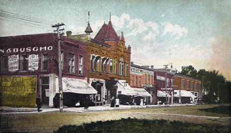 Business Block, Wells Minnesota, 1910