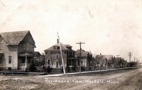 Residence View, Wendell Minnesota, 1910's?