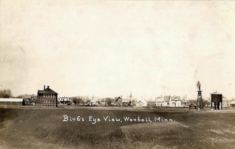 Birds Eye View, Wendell Minnesota, 1910's?