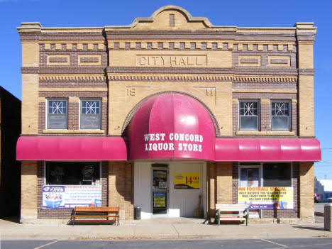 Former City Hall, now the Municipal Liquor Store, West Concord Minnesota, 2010