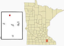 Location of West Concord, Minnesota