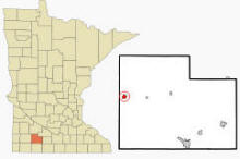 Location of Westbrook, Minnesota