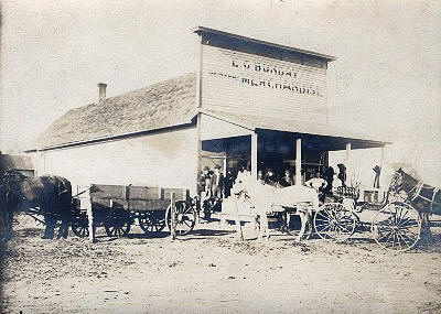 E.C. Bunday General Store,Westport Minnesota, 1908