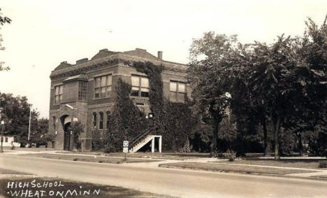 High School, Wheaton Minnesota, 1930's