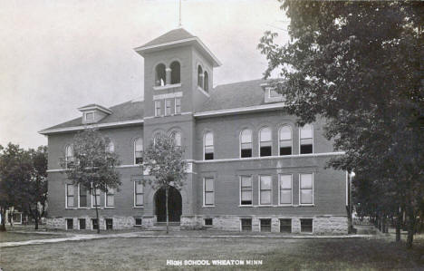 High School, Wheaton Minnesota, 1910's