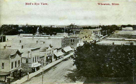 Birds eye view, Wheaton Minnesota, 1915