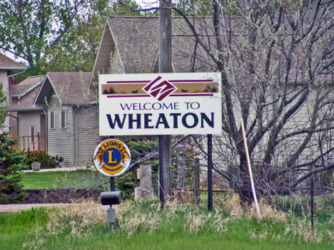 Wheaton Minnesota Welcome Sign, 2008