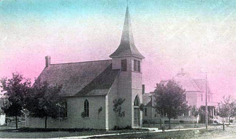 German Lutheran Church and Parsonage, Wheaton Minnesota, 1910