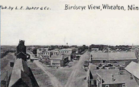 Birds eye view, Wheaton Minnesota, 1910's?