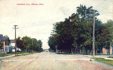 Litchfield Avenue, Willmar Minnesota, 1908