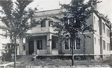 Dr. Benson's Hospital, Willmar Minnesota, 1912