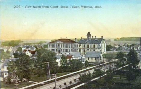 Birdseye View of Willmar Minnesota, 1910