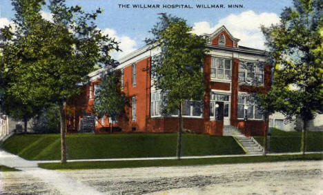 The Willmar Hospital, Willmar Minnesota, 1920's