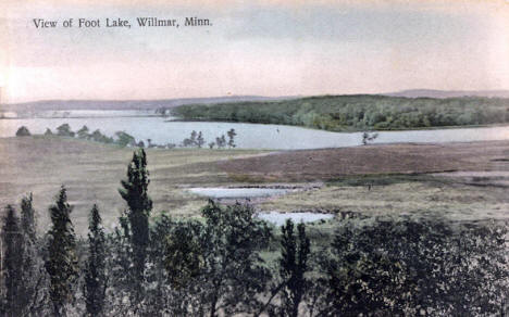View of Foot Lake, Willmar Minnesota, 1910's