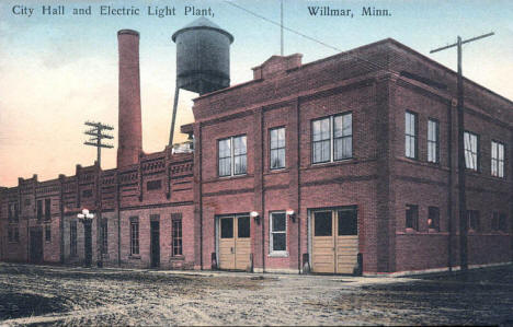 City Hall and Electric Light Plant, Willmar Minnesota, 1910's