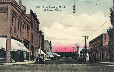 5th Street looking north, Willmar Minnesota, 1908