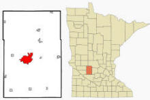 Location of Willmar, Minnesota