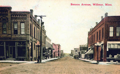 Benson Avenue, Willmar Minnesota, 1908