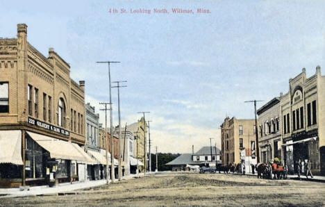 4th Street looking north, Willmar Minnesota, 1912