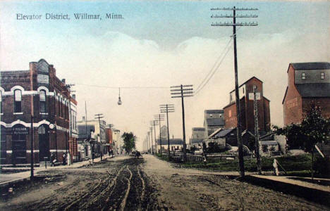 Elevator District, Willmar Minnesota, 1910's?