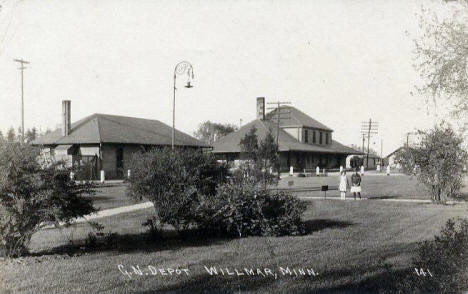 Great Northern Depot, Willmar Minnesota, 1920's?