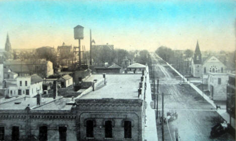 Sixth Street looking south, Willmar Minnesota, 1910