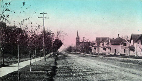 Litchfield Avenue looking west, Willmar Minnesota, 1912