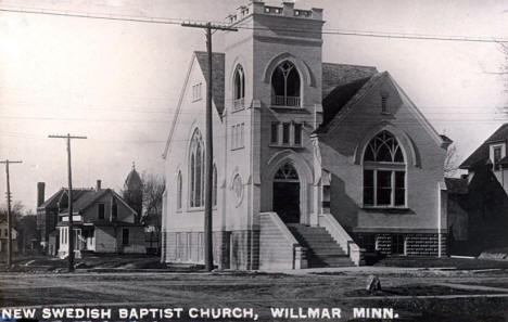 New Swedish Baptist Church, Willmar Minnesota, 1910's