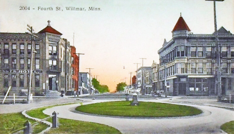 Fourth Street, Willmar Minnesota, 1910