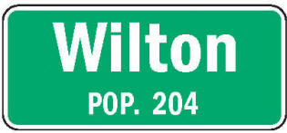 Wilton Minnesota population sign
