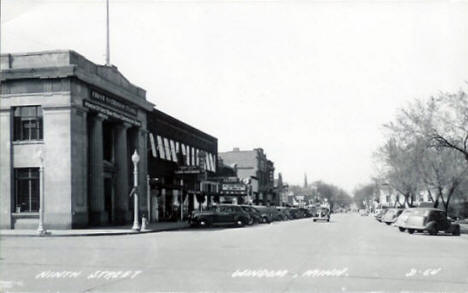 View of 9th Street, Windom Minnesota, 1950's