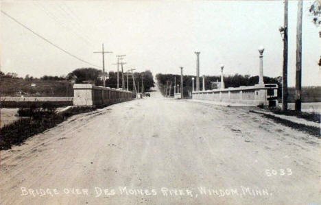 Bridge over the Des Moines River, Windom Minnesota, 1930's