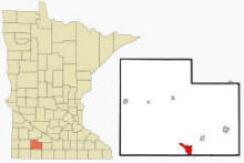 Location of Windom, Minnesota