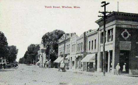 Tenth Street, Windom Minnesota, 1900's