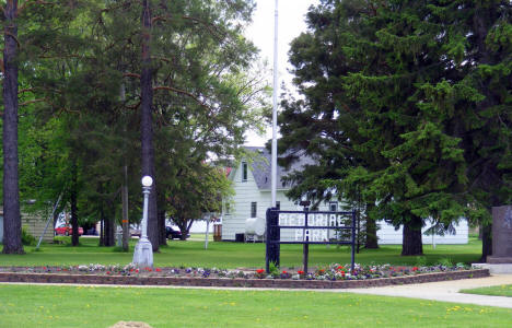 Memorial Park, Winger Minnesota, 2008