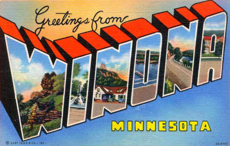 Greetings from Winona Minnesota, 1943