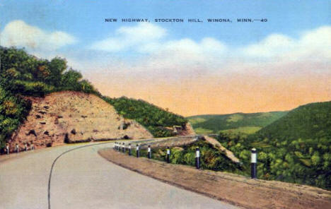 New Highway, Stockton Hill, Winona Minnesota, 1939