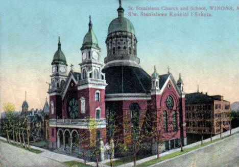 St. Stanislaus Church and School, Winona Minnesota, 1911